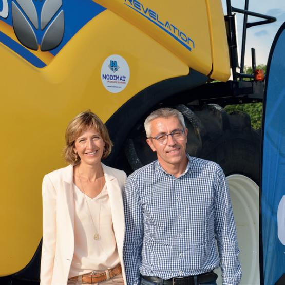 Gwénaëlle Morio, à la tête du groupe Ouvrard depuis 2012, et Pascal Vauthier, directeur de Nodimat. Photo : DR