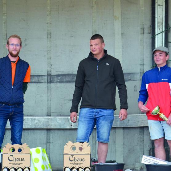 Le podium du concours de labour. Photo : TM